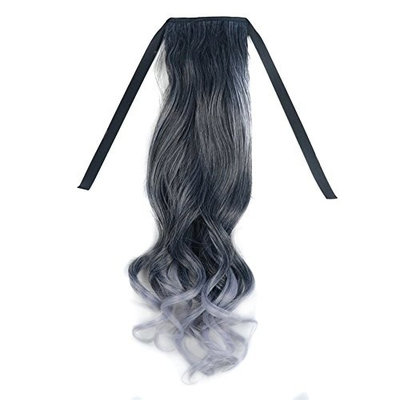 BESTLEE Heat Resistant Women Long Clip on Drawstring Ombre Ponytail Hair Extensions
