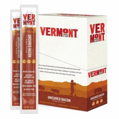 Vermont Smoke & Cure Meat Sticks, Pork, Antibiotic Free, Gluten Free, Uncured Bacon, 1oz Stick, 24 Count