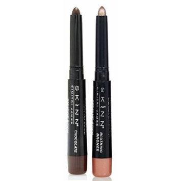 Skinn Cosmetics Smudge Stick for Eyes - Set of 2 Waterproof Eye Pencils - Chocolate & Blushing Bronze