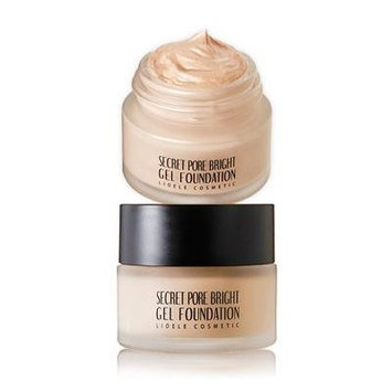 [LIOELE] Secret Pore Bright Gel Foundation (#21 Pure Ivory), 20g, SPF30 PA++, All in One Foundation