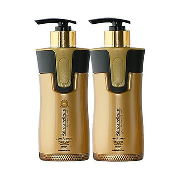 Keratin Cure Brazilian Complex Blow Out Hair Treatment V2 Creme Brazilian Hair Treatment 2 Piece Pro kit #1 Clarifying Shampoo # 2 Gold & Honey Wash the Same Day (300ML/10)