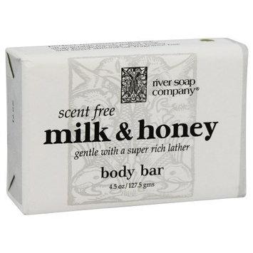 River Soap Company - Bar Soap Scent Free Milk & Honey - 4.5 oz. by River Soap Company