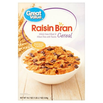 Wal-mart Stores, Inc. Great Value Raisin Bran Cereal, 18.7 oz