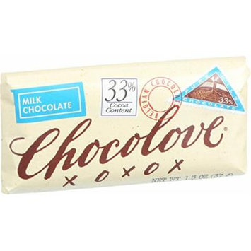 Chocolove Xoxox Premium Chocolate Bar - Milk Chocolate - Pure - Mini - 1.3 oz Bars - Case of 12 - Wheat Free - Kosher