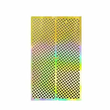 Wrapables® Gold Nail Art Guide Large Nail Stencil Sheet - Scroll