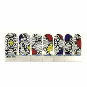 Wrapables® Fashion Nail Stickers and Decal, Python