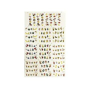 Wrapables® Fingernail Tattoo Christmas Nail Art Water Christmas Nail Tattoos Christmas Water Transfer Slide Tattoos Nail Decals, Christmas Nails 2 (11 Designs/220 Nail Tattoos)