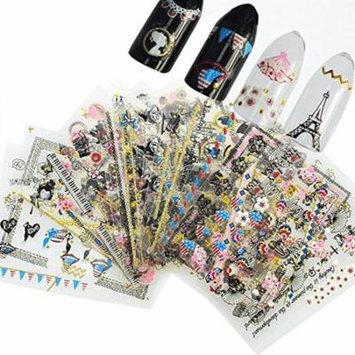 Wrapables® Globetrotter Nail Stickers Nail Art (24 sheets)