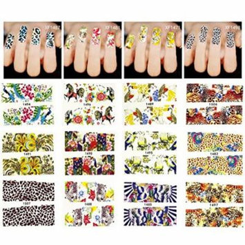 Wrapables® 40 Sheets Into the Wild Animal Print Water Slide Nail Art Decals Water Transfer Nail Decal Sheets (40 sheets)