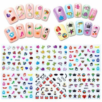Wrapables® 30 Sheets Funky Patterns Nail Art Nail Stickers 3d Nail Decals
