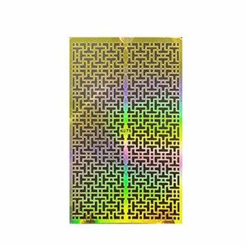Wrapables® Gold Nail Art Guide Large Nail Stencil Sheet - Puzzle