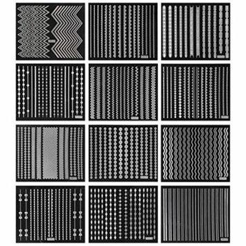 Wrapables® Holographic Nail Stickers Nail Strips 3D Nail Art (12 sheets)