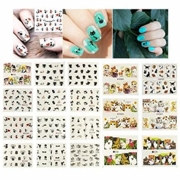 Wrapables® 22 Sheets Cat Lovers Water Slide Nail Art Decals Water Transfer Nail Decals