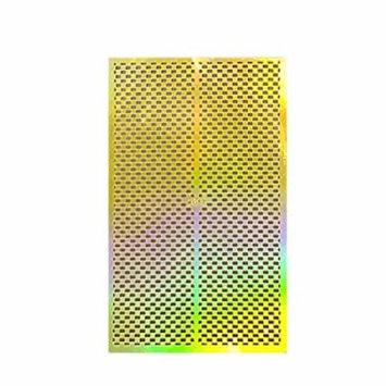 Wrapables® Gold Nail Art Guide Large Nail Stencil Sheet - Checkers