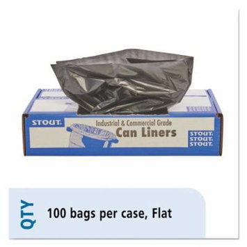 Stout - 100% Recycled Plastic Garbage Bags, 65gal, 1.5mil, 50x51, BN - 100/Carton - Trash Bags
