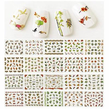 Wrapables® Cherry Blossoms Asian Inspired Nail Art Foil Nail Stickers, 50 sheets