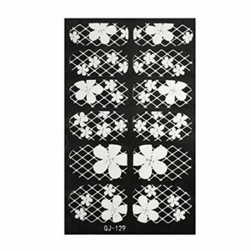 Wrapables® Black and White Nail Art Nail Wraps, Pansies