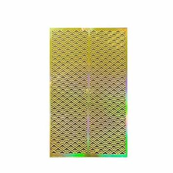 Wrapables® Gold Nail Art Guide Large Nail Stencil Sheet - Sunrise