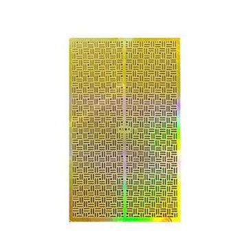 Wrapables® Gold Nail Art Guide Large Nail Stencil Sheet - Basketweave