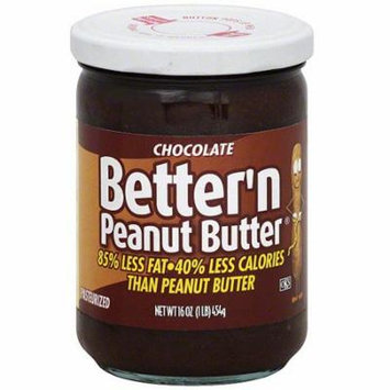 Better'n Peanut Butter Chocolate Peanut Butter Spread, 16 oz (Pack of 6)
