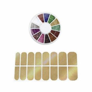 Wrapables® Nail Art Mini Nail Beads Manicure Wheel & Nail Art Nail Stickers