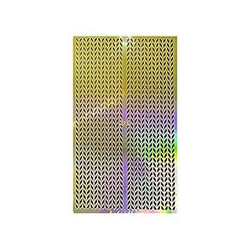 Wrapables® Gold Nail Art Guide Large Nail Stencil Sheet - Arrow