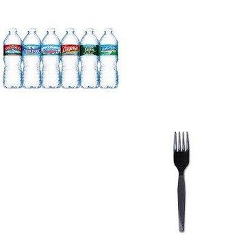 KITDXEFM517NLE101243 - Value Kit - Dixie Plastic Cutlery (DXEFM517) and Nestle Bottled Spring Water (NLE101243)