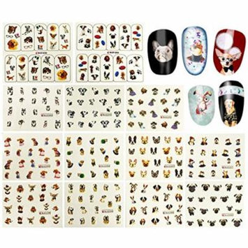 Wrapables® 288 Dog Nail Decals Dog Water Slide Nail Art Decals Water Transfer Nail Decals