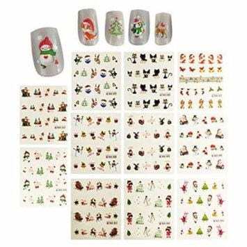 Wrapables® Christmas Water Slide Nail Art Decals Water Transfer Nail Decals (11 designs/220 Nail Decals)