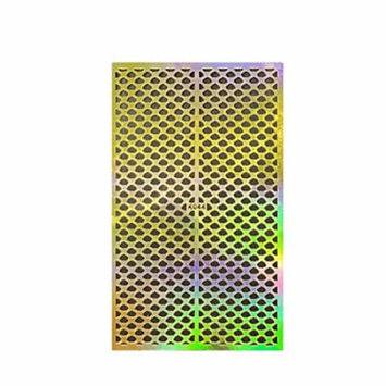 Wrapables® Gold Nail Art Guide Large Nail Stencil Sheet - Clouds