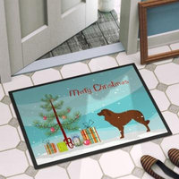 The Holiday Aisle Portuguese Sheepdog Dog Door Mat