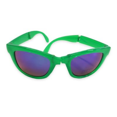 On The Verge Wayfarer Foldable Sunglasses in Green