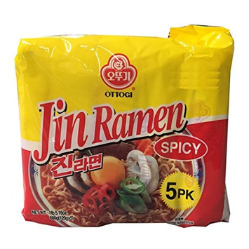 Ottogi Korean Ramen Family Pack (Spicy, 1 Pack)