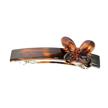 Parcelona French Butterfly Medium Cellulose Tortoise Shell Hair Clip Barrette - 3.25 by Parcelona
