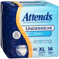 Adult Absorbent Underwear Attends Pull On X-Large Disposable Moderate Absorbency 4 Packs of 14