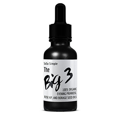 Big 3 Rose Hip Oil, Evening Primrose Oil, Borage Oil, Ultimate Anti-Aging Serum