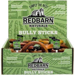 Redbarn Naturals Bully Rings Dog Treats, Small, case of 35