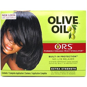 Organic Root Stimulator Olive Oil No-Lye Hair Relaxer System Extra Strength by Organic Root Stimulator