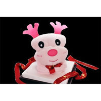 Couture Towel CT-SLLR001401 57 x 30 in. Large Reindeer - Dana Towel Daisy Pink