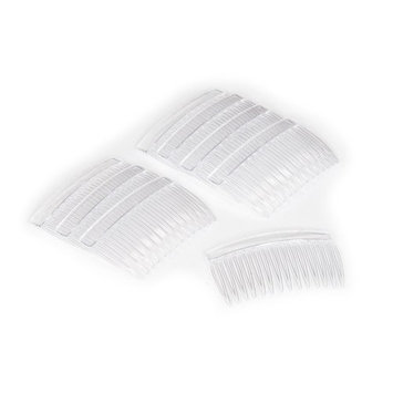 Crystal Clear Multipurpose Hair Combs - Set of Eight (8)