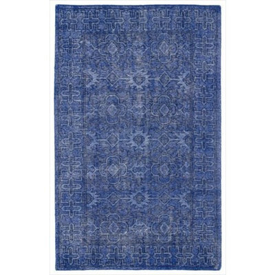 Kaleen Rugs Restoration Collection RES04-17 Blue Hand-Knotted 9' x 12' Rug