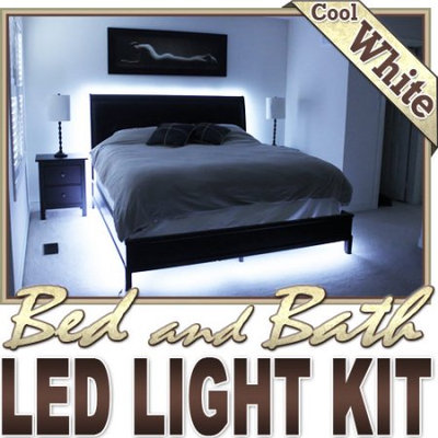 Biltek® 6' ft Cool White Bed Night Light Closet TV Remote Controlled LED Strip Lighting SMD3528 Wall Plug - Headboard Closet Make Up Counter Mirror Light LED St