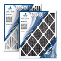 Airex 12x24x1 Carbon MERV 8 Pleated AC Furnace Air Filter - Actual Size: 11? X 23? X ¾ (Pack of 6)