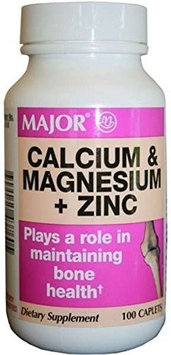 MAJOR CALCIUM/MAGNESIUM/ZINC TABS CALCIUM CARBONATE-334 MG White 100 TABLETS UPC