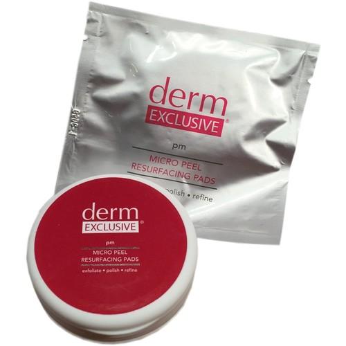 Derm Exclusive Micro Peel Resurfacing Pads 30-Day Supply Exfoliate-Refine-Polish