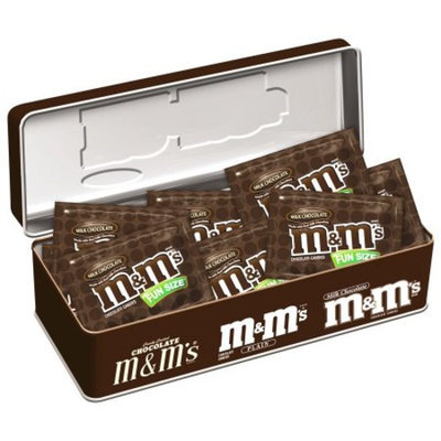 M&M'S® Holiday Milk Chocolate Candy Fun Size in a Nostalgic Gift Tin