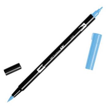 Tombow Dual Brush Marker Open Stock-533 Peacock Blue
