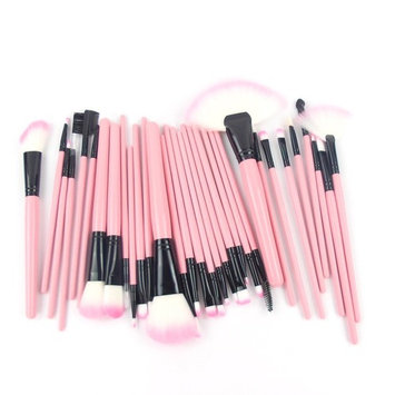 Echo Beauty 32 Pcs Gift for Halloween' Day Pink Rod Makeup Brush Cosmetic Set Kit with Case Professional Makeup Brushes & Tools