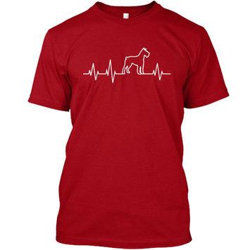 SCHNAUZER HEARTBEAT - Ltd.Edt. Tagless Tee T-Shirt