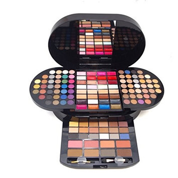 PhantomSky 130 Colors Eyeshadow Palette Makeup Cosmetic Contouring Combination with Eyebrow Powder, Blusher, Lip Gloss and Press Powder - Perfect for Professional and Daily Use